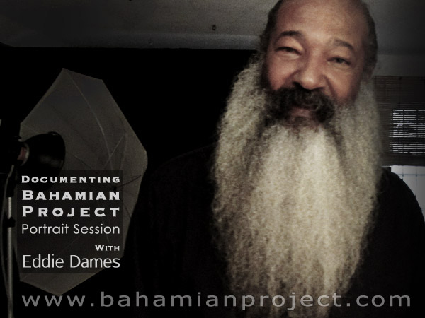 This picture of Eddie Dames was taken right after his portrait session for the Bahamian Project. The final portrait images will be unveiled at the Exhibition Opening at the National Art Gallery of The Bahamas on July 11, 2013.