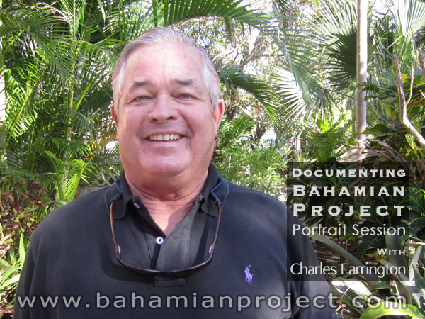 This picture of Charles Farrington was taken right after his portrait session for the Bahamian Project. The final portrait images will be unveiled at the Exhibition Opening at the National Art Gallery of The Bahamas on July 11, 2013.
