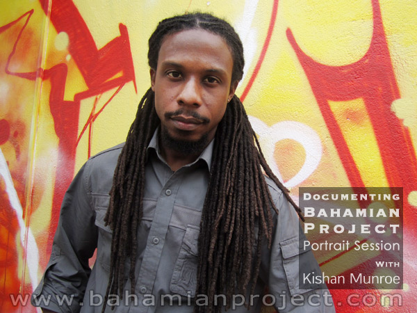 This picture of Kishan Munroe was taken right after his portrait session for the Bahamian Project. The final portrait images will be unveiled at the Exhibition Opening at the National Art Gallery of The Bahamas on July 11, 2013.